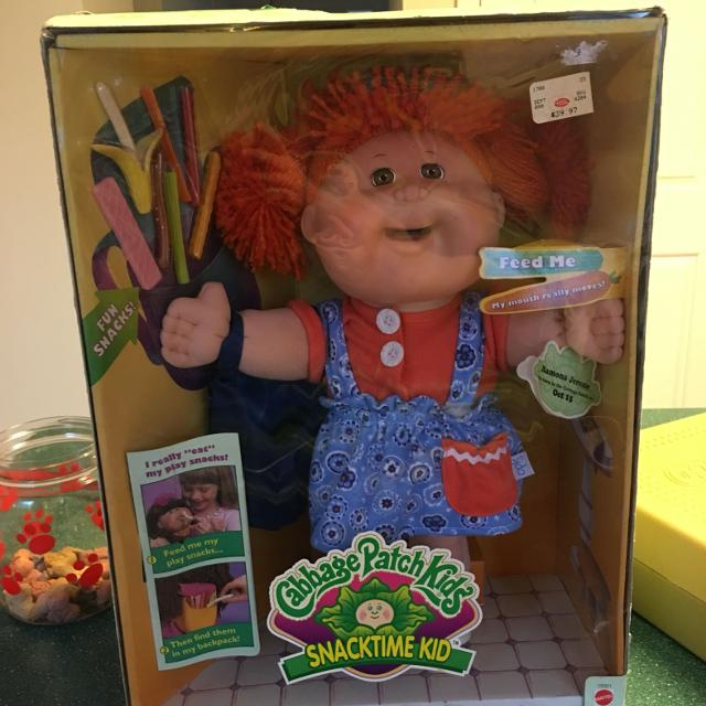 Rare Recalled Snack Time Cabbage Patch Kid Doll