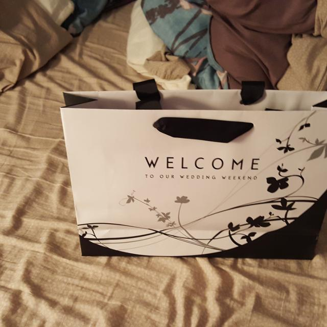 20 Welcome To Our Wedding Weekend Gift Bags Black And White Never Been Used