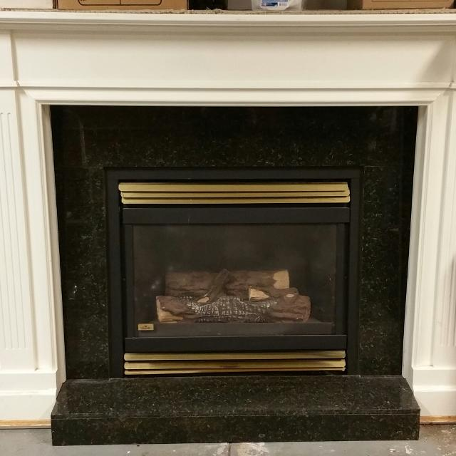 Euc Custom Trad Fireplace 21 5 Mantle Granite Gas Insert By Napoleon 900