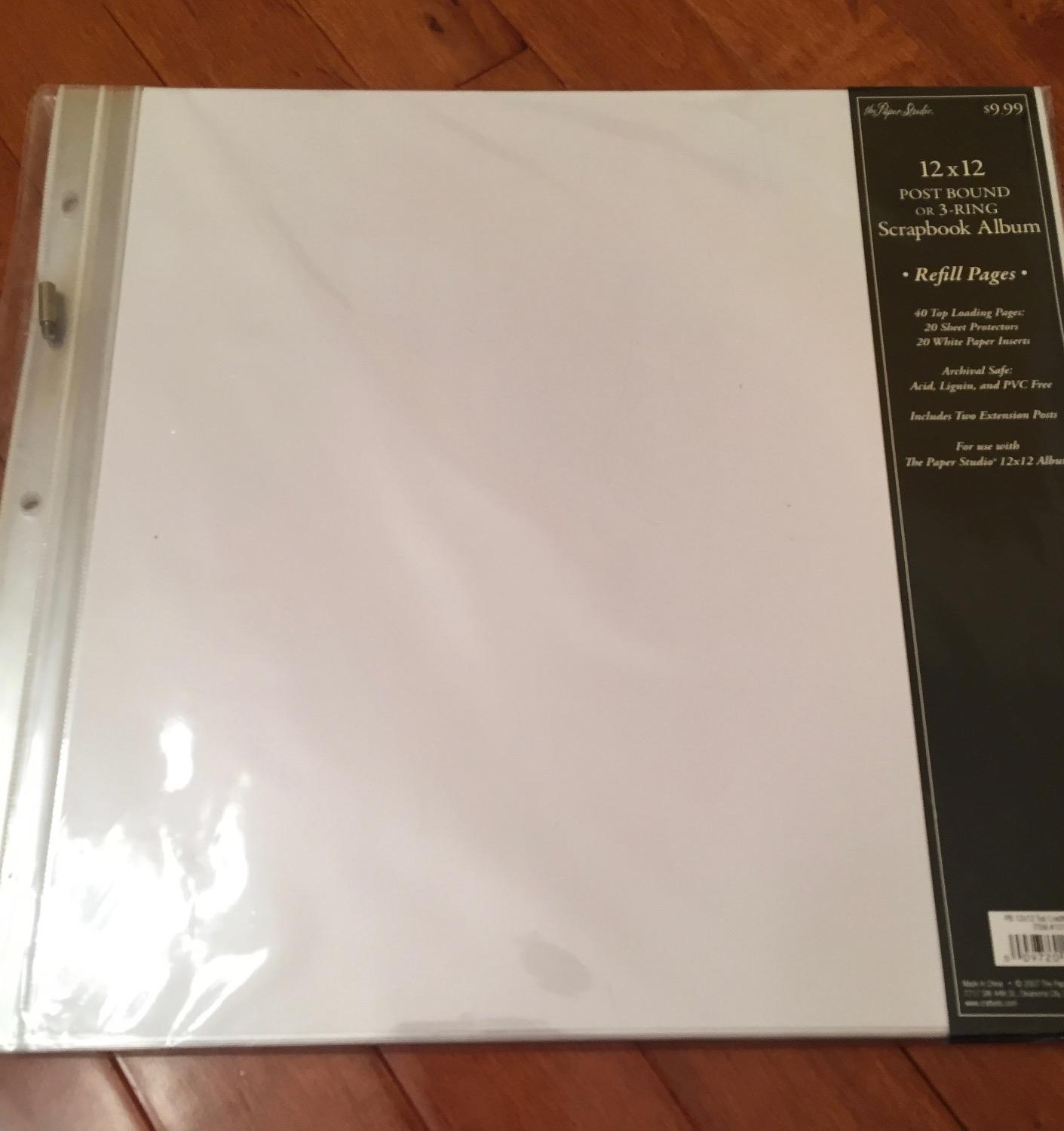 How to refill scrapbook pages - Find More Brand New Still In Package The Paper Studio 12x12 Post Bound Or 3 Ring Scrapbook Album Refill Pages I Have 2 Of These 4 00 Each For Sale At Up