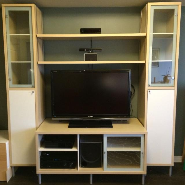 Find More Ikea Magiker Tv Unit With Side Cabinets And Shelves For