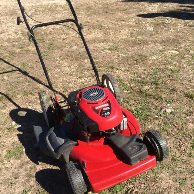 Craftsman 22 inch front wheel drive self propelled mulching mower  I just  did a tune up on it  Ready to go