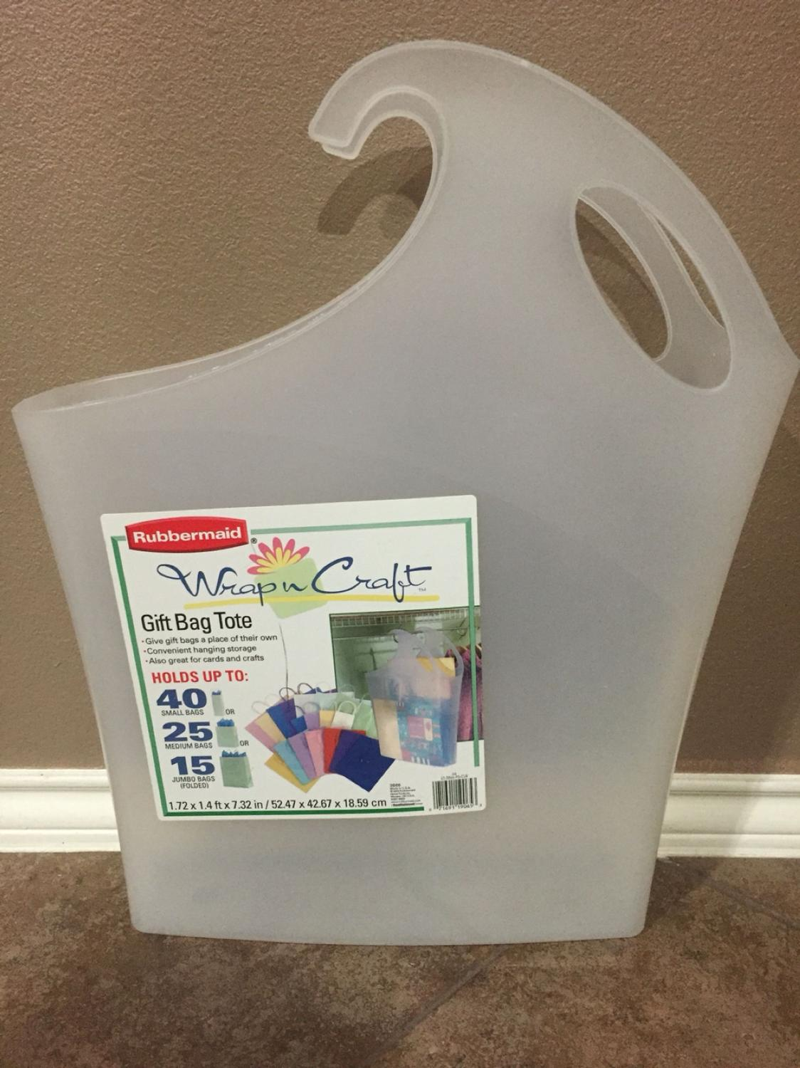 Find More Rubbermaid Wrap N Craft Gift Bag Tote For Sale