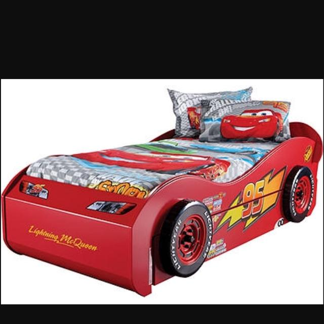 Lightning McQueen Twin Trundle Bed