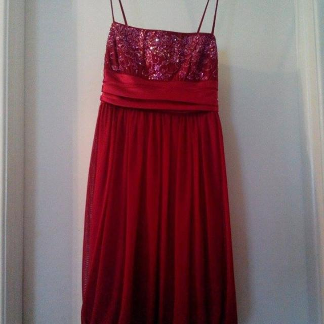 991551a3685 Find more Macy s Red City Studio Formal Dress  3.50 for sale at up ...