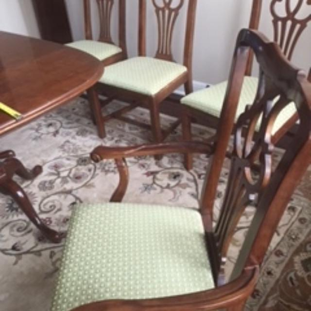 best drexel vintage cherry dining table w chairs for sale in round
