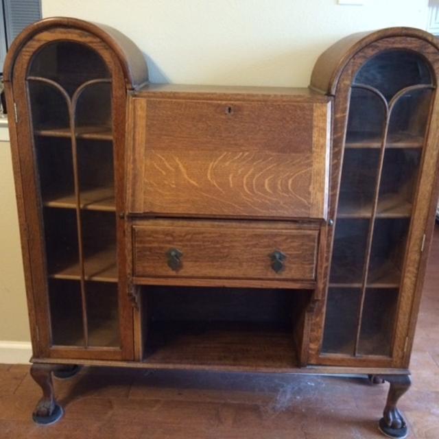 Antique side by side Secretary Desk in Tiger Oak - Find More Antique Side By Side Secretary Desk In Tiger Oak For Sale