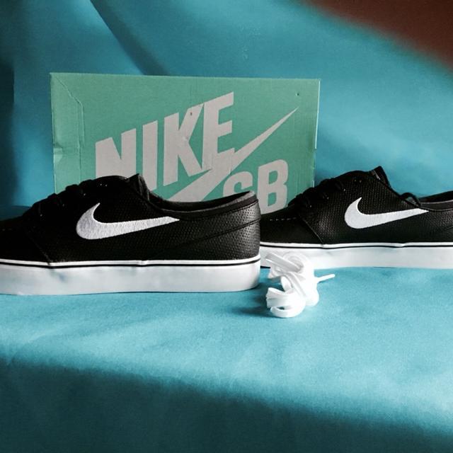 793b9e41319f Best Nike Sb Zoom Stefan Janoski Skate Shoes - Leather - Black white Wolf  Grey Men s 11.5 for sale in Elk Grove