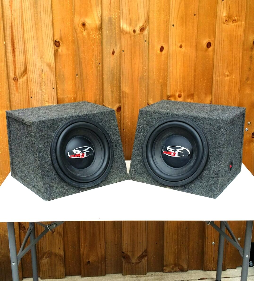 Find More Two Rockford Fosgate 12 Power Hx2 Subwoofers In Metra Boxes For Sale At Up To 90 Off