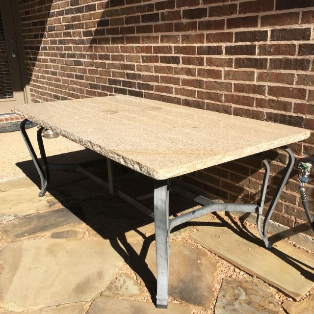 Patio Dining Table Solid Granite Top See More Pics In Comments