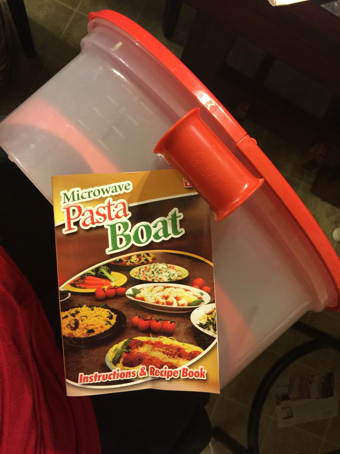 Find More Microwave Pasta Boat With Instructions Recipe Book For