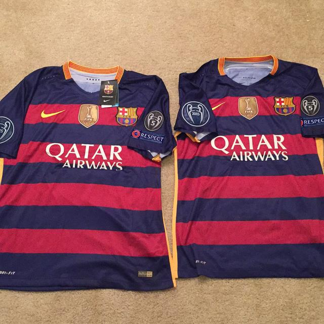 4a08db10bf2 Best Fc Barcelona Soccer Jerseys... Neymar Jr. ( 11) And Lionel Messi ( 10).  Adult Medium for sale in Manassas