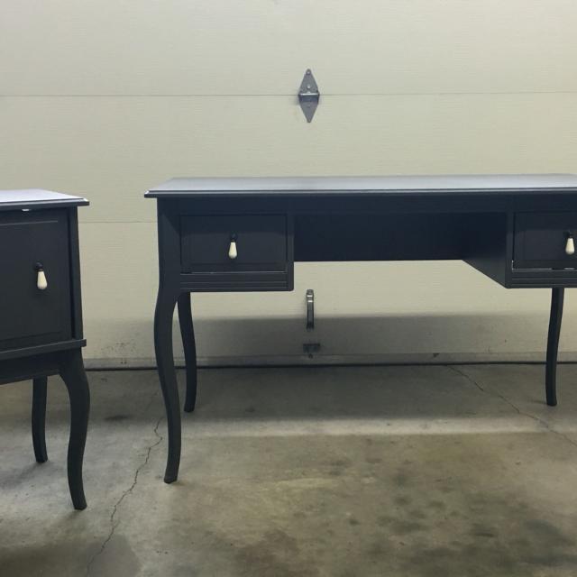 Ikea Edland Desk Nightstand