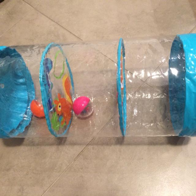 Baby blow up roll toy  Has balls inside that rattle  Fun for baby to push  around and shake  P/U Steveston