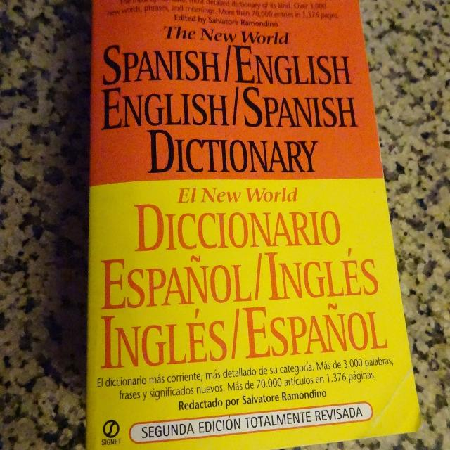 Gently Used: Spanish/English Dictionary