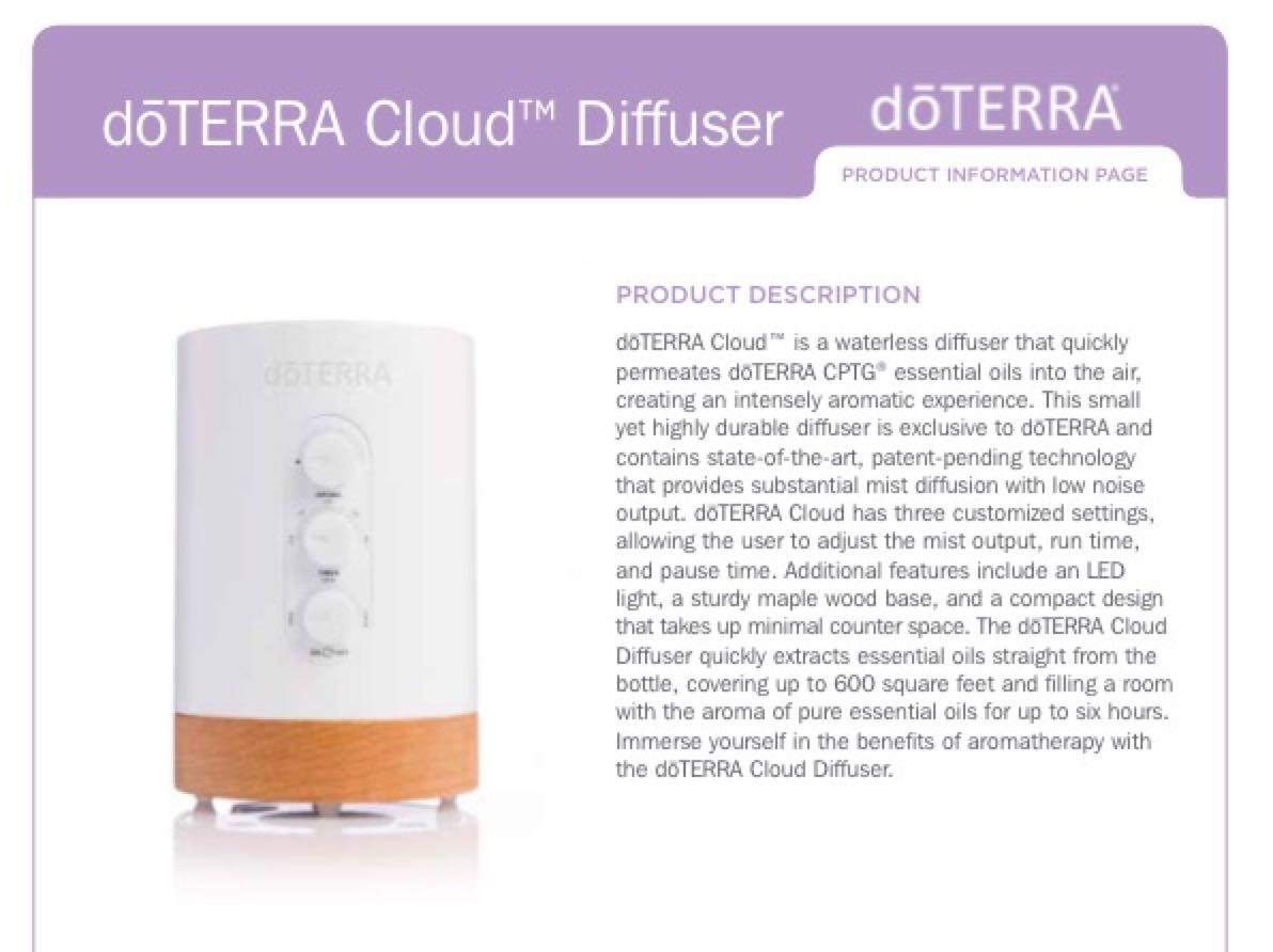 how to use doterra cloud diffuser