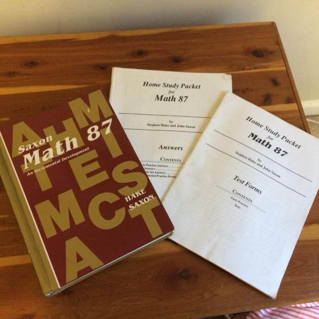 Saxon Math 87 Text, tests, and answers  Homeschool grade 7 or 8