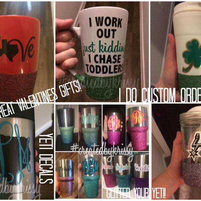 b79a35f8cae custom decals, yeti cup designs, bling your yeti , glitter cups! Great for  valentines!
