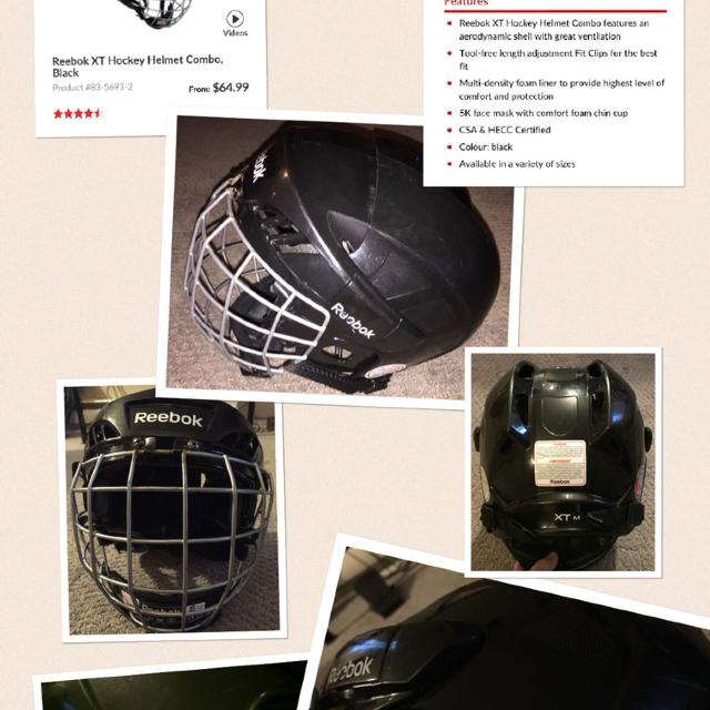 076cdb98ea5 Find more Reebok Xt Hockey Helmet for sale at up to 90% off