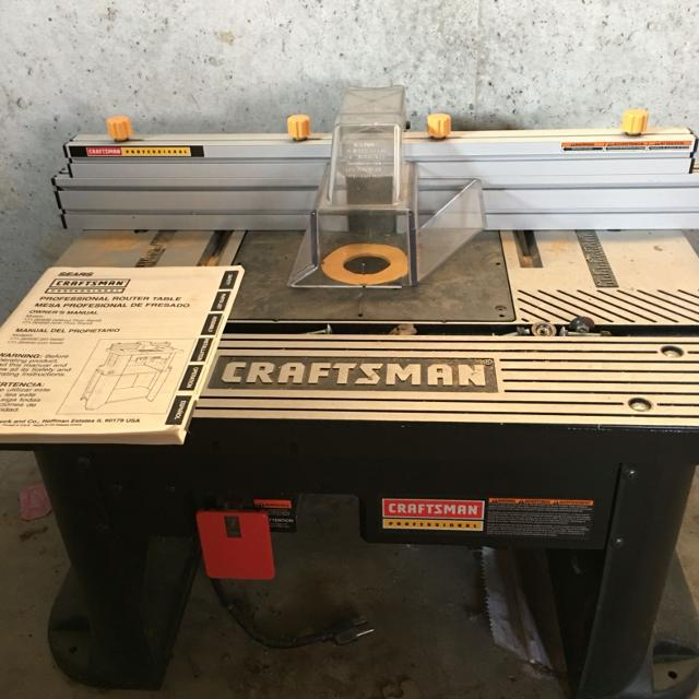 find more craftsman professional router table for sale at up to 90% off