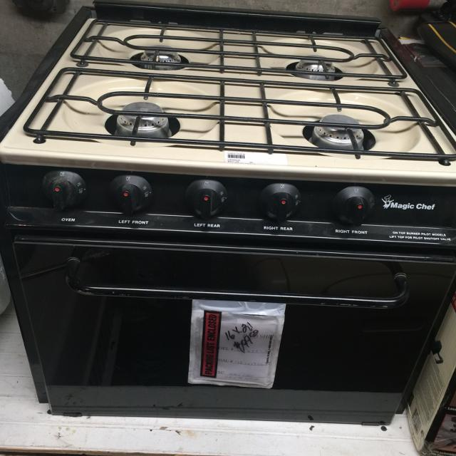 Rv Stove Oven >> 4 Burner With Oven Magic Chef Rv Stove
