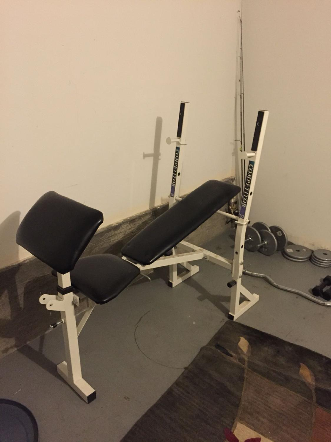 Find more Competitor 343 Weight Bench, Weight Bars And Weights for sale at  up to 90% off