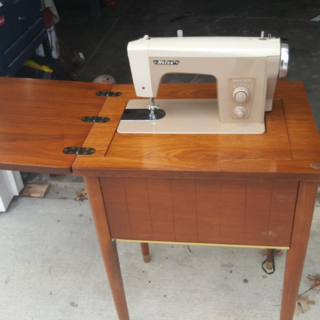 Vintage Nelco Sewing machine with Cabinet - Best Vintage Nelco Sewing Machine With Cabinet For Sale In Lee's