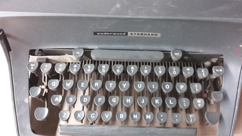 old school underwood typewriter
