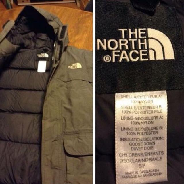 f18b06f50 REDUCED--The NORTH FACE Goose-Down Kid's Winter Coat. Dark Grey/Black.  Photos in comments. Color not accurate in all photos