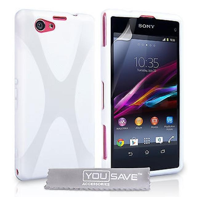 separation shoes 51c7d 2b948 White X Line Case for Sony Xperia Z1 Compact with Shock Proof Protective  Casing