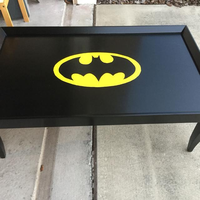 Completely Refinished Coffee Table Kids Room Wood Stained Dark And A Hand Painted
