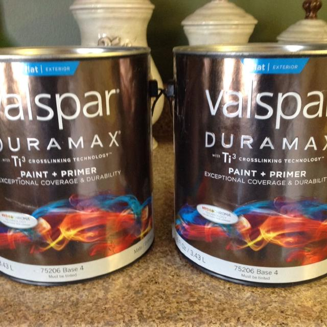 Valspar Duramax Flat Exterior Paint Primer In One Color Is November Foliage See Lowe S Photo And Price In Comments