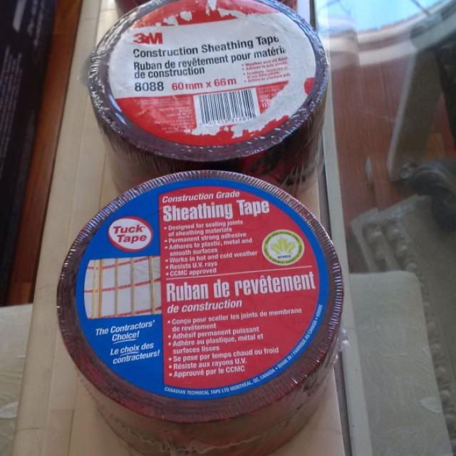 Three rolls of sheathing tape brand new