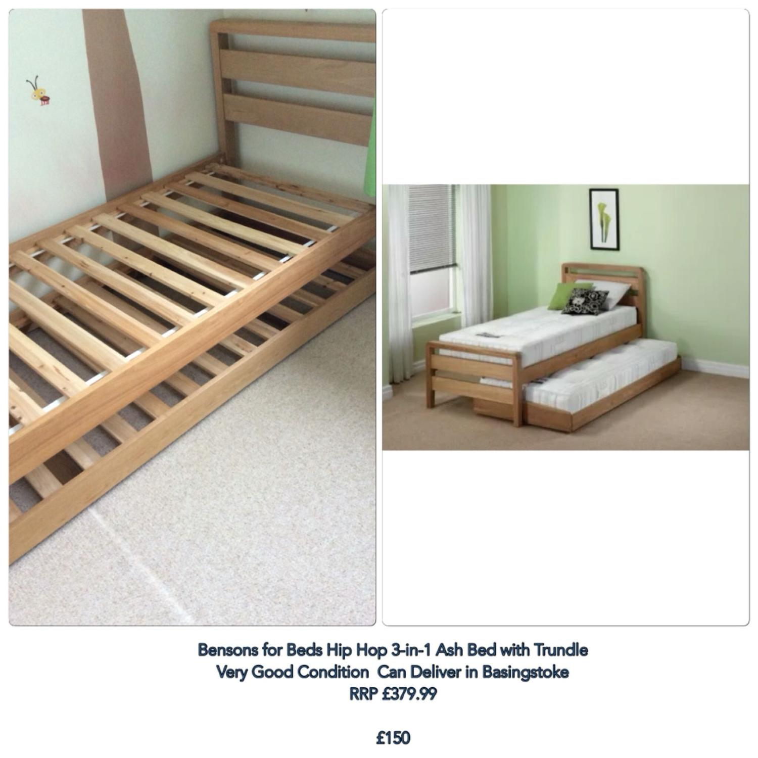 Benson For Beds Hip Hop 3 In 1 Solid Wood Bed With Trundle Single To Superking