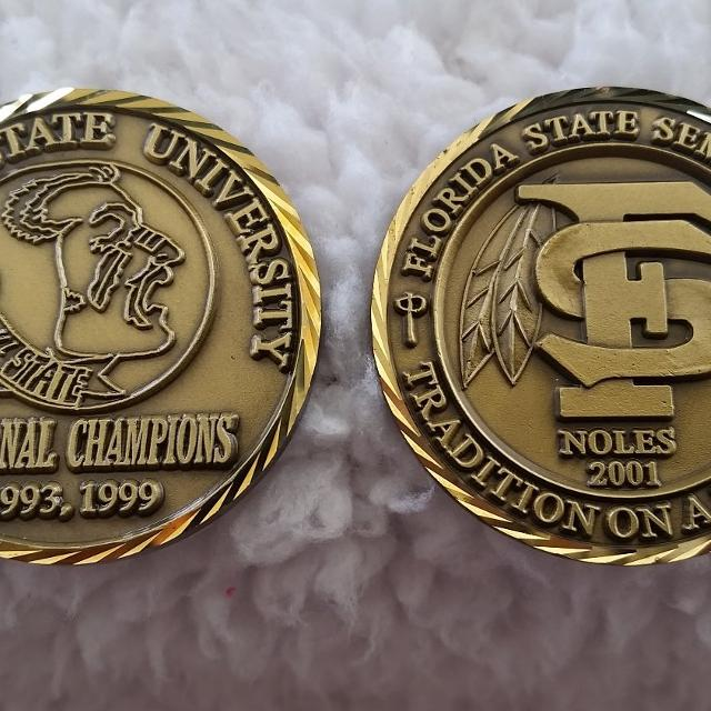 FSU Seminole Challenge Coins for Alumni and Fans