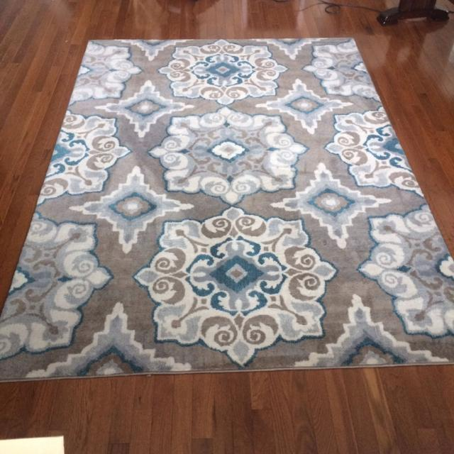 Andover Mills Natural Taupe And Turquoise Area Rug