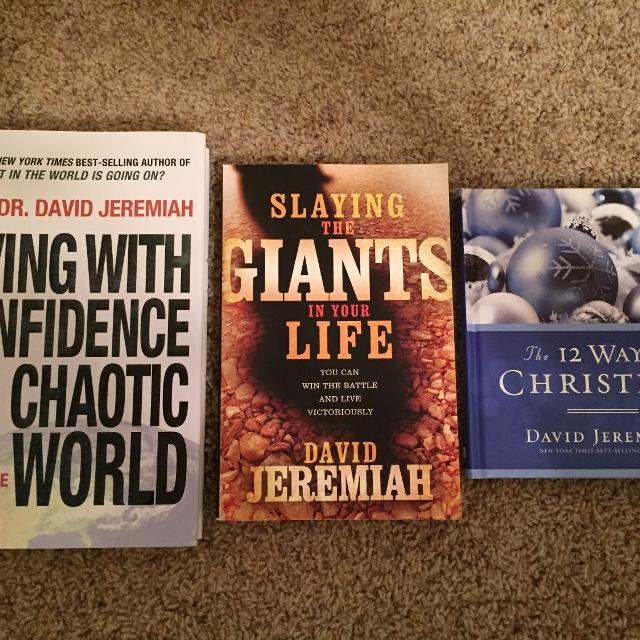 3 Christian books by David Jeremiah - great condition