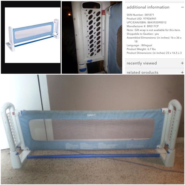 910219d42 Find more Safety 1st Top Of Mattress Bed Rail. More Pictures In ...