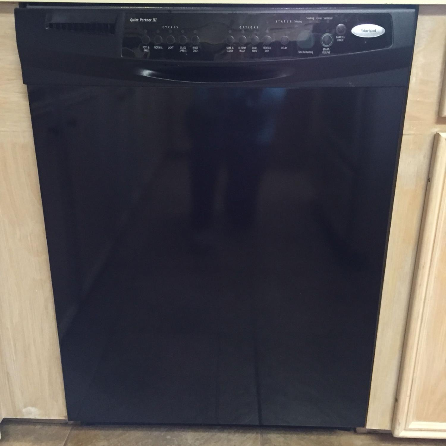 Black Whirlpool Gold Dishwasher Quiet Partner Iii Several Options For Washing Cycles In Very Good Condition
