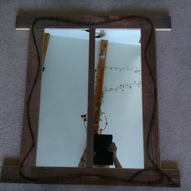 Find more Barn Board With Barb Wire Framed Mirror. for sale at up to ...