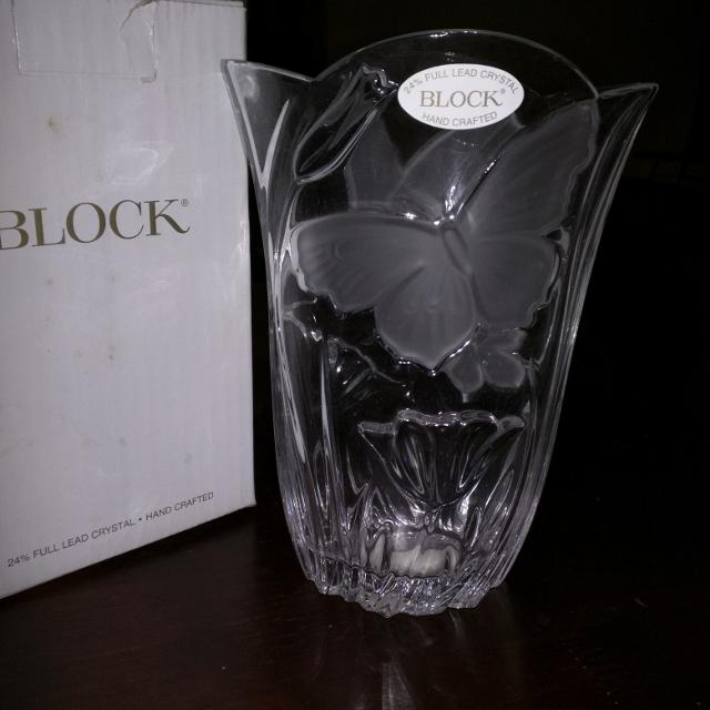 Best Butterfly Crystal Vase From Block Handcrafted For Sale In