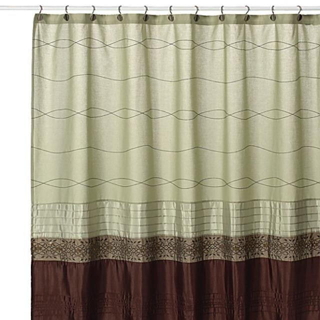 beige and brown shower curtain. Romana by Kas Sage Green Brown shower curtain Best By brown Shower Curtain for sale in