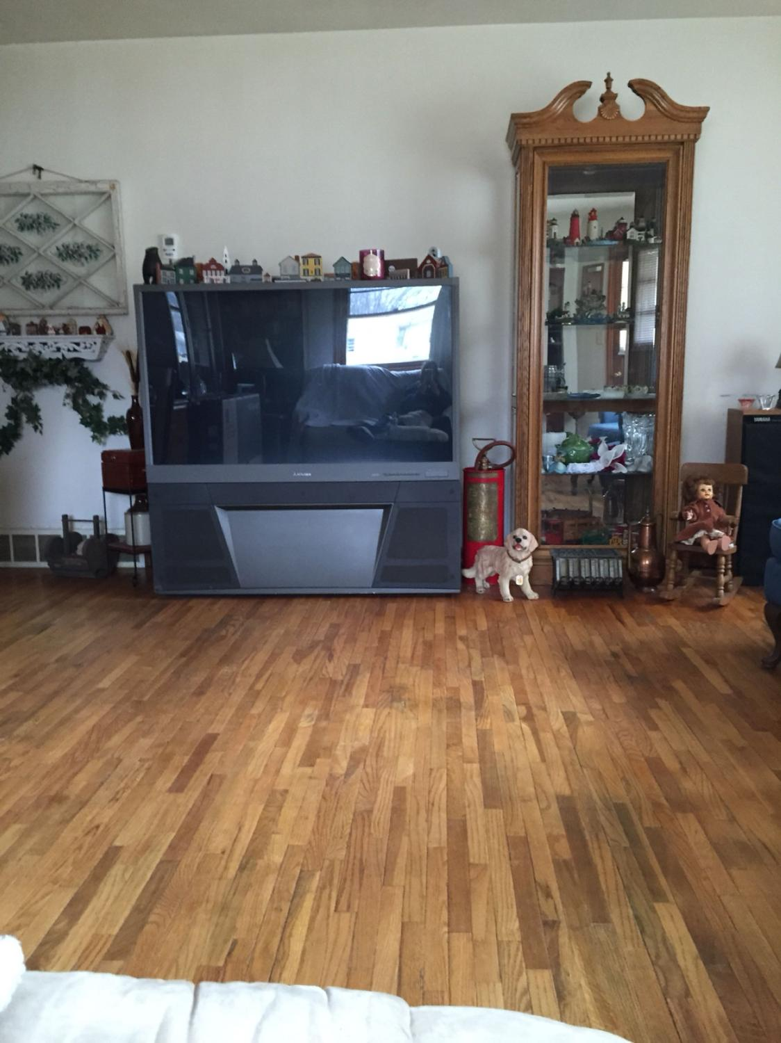 Find More 55 Inch Mitsubishi Tv It Works Great We Got A New Tv For