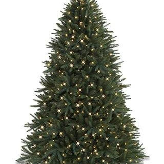 7 5 Foot Balsam Hill Pre Lit Black Spruce Artificial Christmas Tree