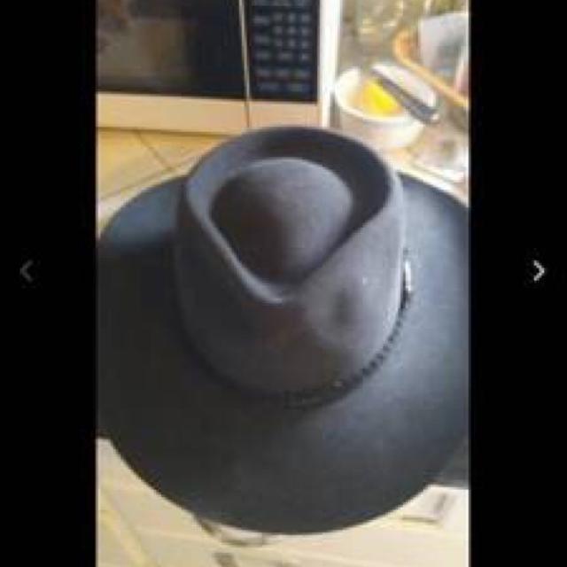 0bb04161f Akubra Australian Overlander pure wool felt hat $50 size 58 charcoal color