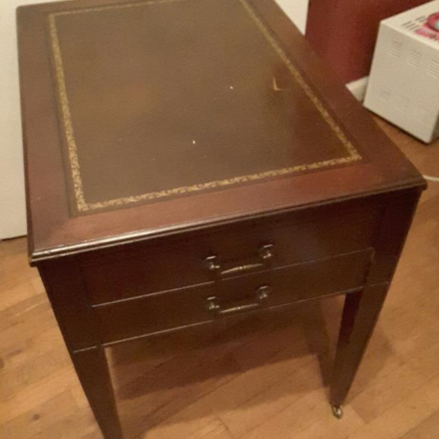 Find More Very Nice Antique Leather Top End Table For Sale At Up To
