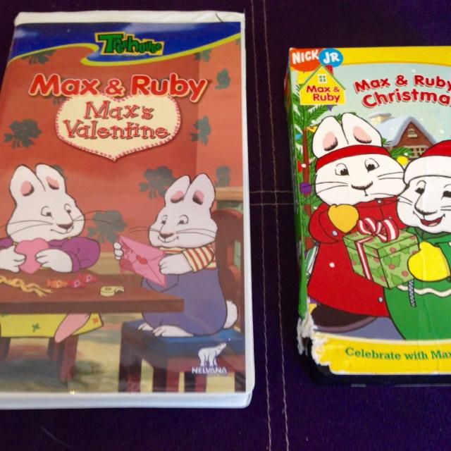 Find More Euc Max And Ruby Vhs Tapes 1 00 Each 2 00