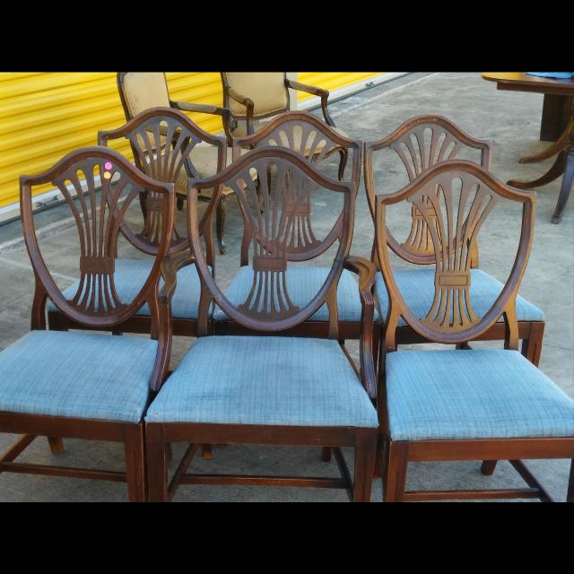 Set of 6 Antique Duncan Phyfe Shield Back Chairs with I Arm chair! - Find More Set Of 6 Antique Duncan Phyfe Shield Back Chairs With I