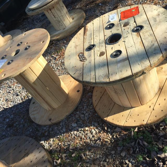 Industrial Wooden Wire Spools 1 25 2 40 All Sizes Available