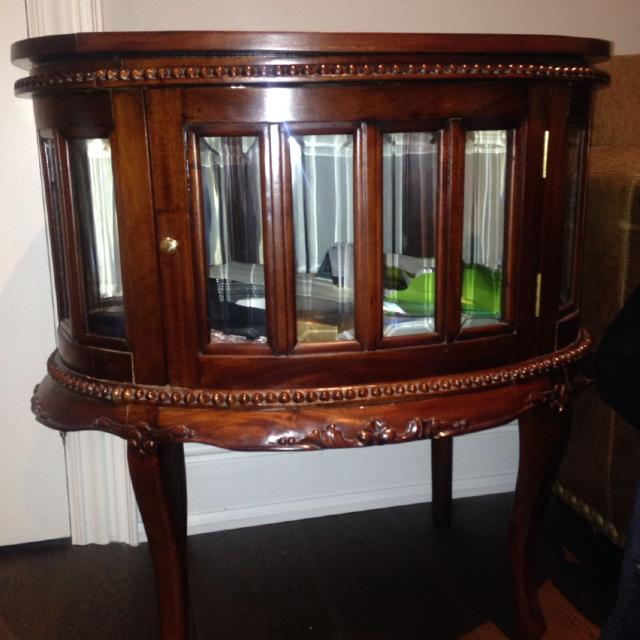 Best Antique Inspired Tea Table Top Tray Lifts Off Glass Panelled